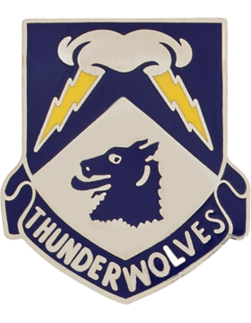 297th Cavalry Alaska Army National Guard Unit Crest (Thunderwolves)