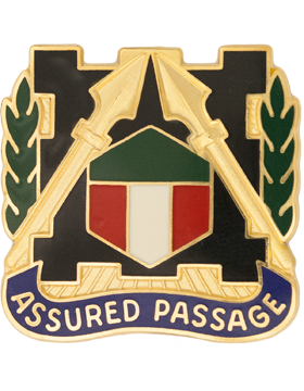 301st Maneuver Enhancement Brigade Unit Crest (Assured Passage)
