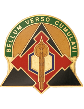 302nd Combat Support Brigade Unit Crest (Bellum Verso Cumlavi)