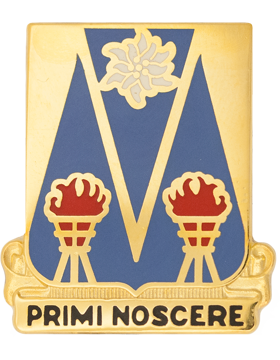 0303 Military Intelligence Battalion Unit Crest (Primi Noscere)