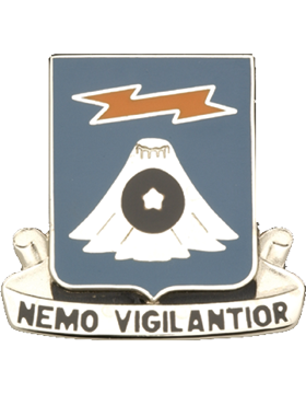 306th Military Intelligence Battalion Unit Crest (Nemo Vigilantior)