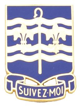 0306 Regiment Unit Crest (Suivez Moi)