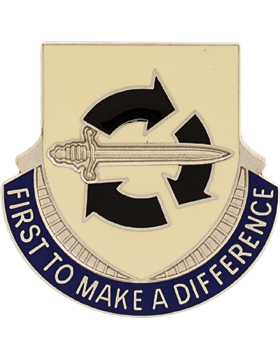0401 Spt Brigade Unit Crest (First  To Make a Differrence)