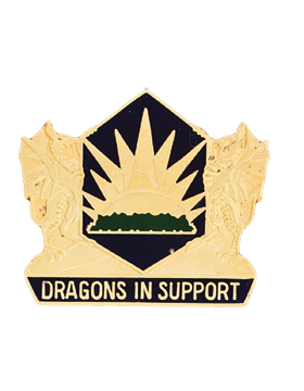 0404 Maneuver Enhan Brigade Unit Crest (Dragons In Support)
