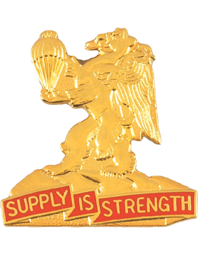 0407 Support Battalion (Left) Unit Crest (Supply Is Strength)