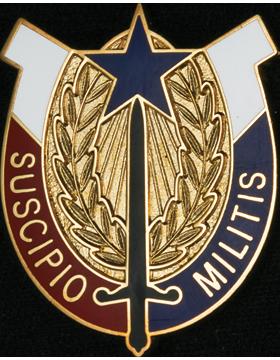 407th Support Brigade Unit Crest (Suscipio Militis)