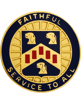 0408 Personnel Service Bn Unit Crest (Faithful Service To All)