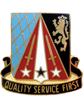 0409 Support Battalion Unit Crest (Quality Service First)