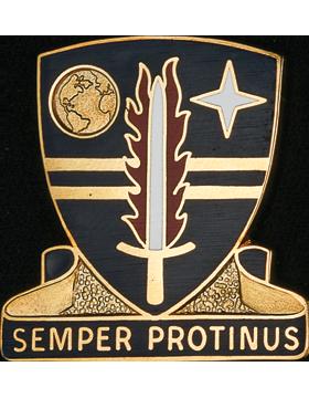 409th Support Brigade Unit Crest (Semper Protinus)