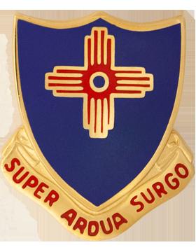 410th Regiment Unit Crest (Super Ardua Surgo)