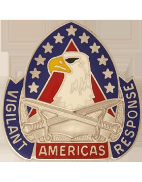 410th Support Brigade Unit Crest (Vigilant Americas Response)