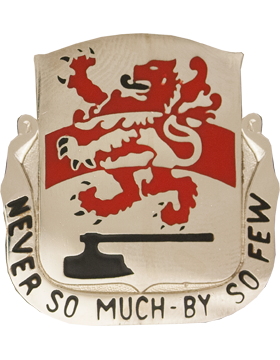 458th Engineer Battalion Usar Unit Crest Never So Much By So Few