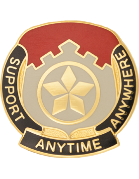 0501 Finance Battalion Unit Crest (Support Anytime Anywhere)