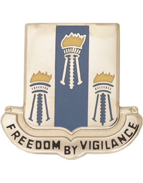 0502 Military Intelligence Battalion Unit Crest (Freedom by Vigilance)