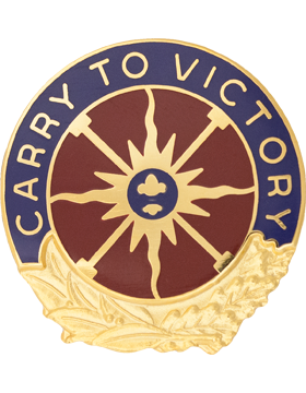 502nd Transportation Center Unit Crest (Carry To Victory)