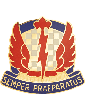 0504 Military Intelligence Brigade Unit Crest (Semper Praeparatus)