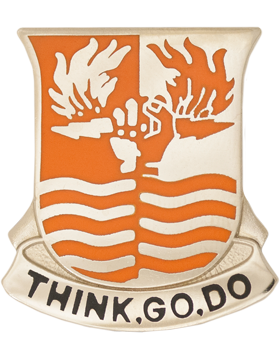 0504 Signal Battalion Unit Crest (Think Go Do)