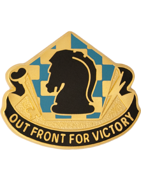 0505 Military Intelligence Group Unit Crest (Out Front For Victory)