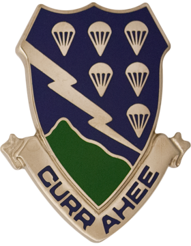 506th Infantry Unit Crest (Currahee)