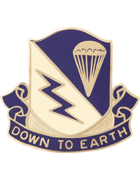 507th Infantry Unit Crest (Down To Earth)