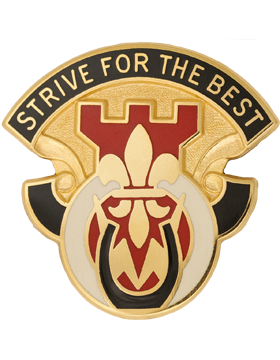 512th Engineer Battalion Unit Crest (Strive For The Best)