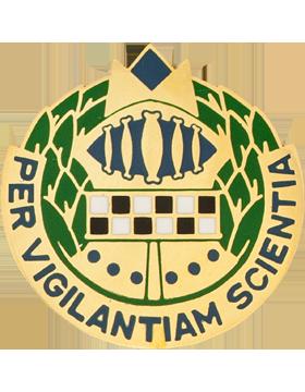 513th Military Intelligence Brigade Unit Crest (Per Vigilantiam Scientia)