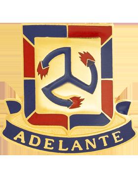 515th Regiment Unit Crest (Adelante)