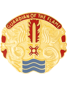 515th Support Battalion Unit Crest (Guardian Of The Flame)