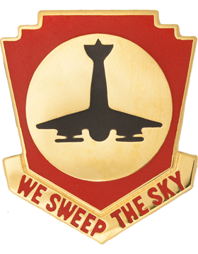 517th Air Defense Artillery Unit Crest (We Sweep The Sky)