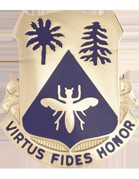 518th Regiment Basic Combat Training Unit Crest (Virtus Fides Honor)