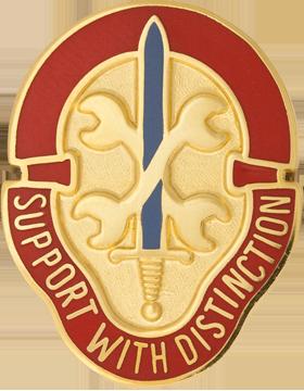 521st Maintenance Battalion Unit Crest (Support With Distinction)