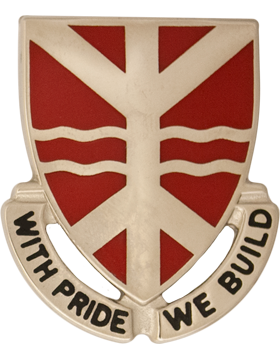 527th Engineer Battalion Unit Crest ( With Pride We Build)