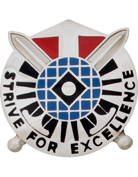527th Military Intelligence Battalion Unit Crest (Strive For Excellence)
