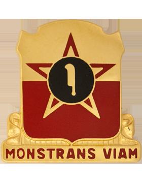 528th Artillery Group Unit Crest (Monstrans Viam)