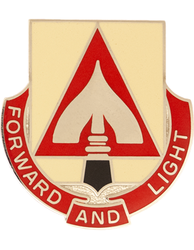 529th Support Battalion Unit Crest (Forward And Light)