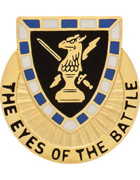 542nd Military Intelligence Battalion Unit Crest (The Eyes Of The Battle)