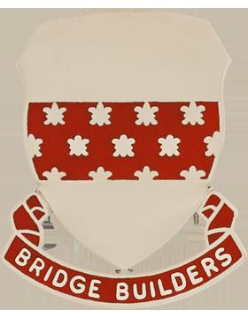 547th Engineer Battalion Unit Crest (Bridge Builders)