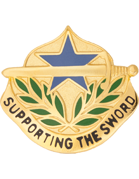 548th Support Battalion Unit Crest (Supporting The Sword)