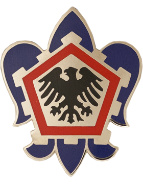 555th Engineer Brigade Unit Crest (No Motto)