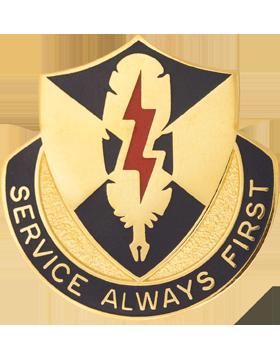 556th Personnel Services Battalion Unit Crest (Service Always First)