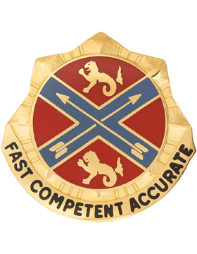 0631 Field Artillery Brigade Unit Crest (Fast Competent Accurate)