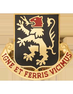 0640 Regiment Unit Crest (Igne Et Ferris Vicimus)