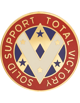 0640 Support Group Unit Crest (Solid Support Total Victory)