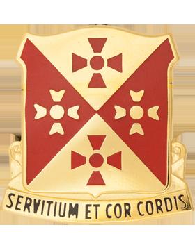 701st Support Battalion Unit Crest (Servitium Et Cor Cordis)