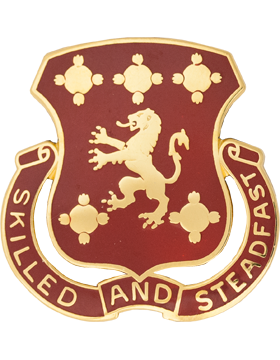 0704 Support Battalion Unit Crest (Skilled And Steadfast)