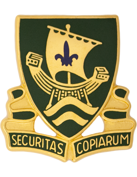 0709 Military Police Bn Unit Crest (Securitas Copiarum)