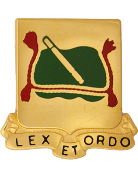 716th Military Police Battalion Unit Crest (Lex Et Ordo)
