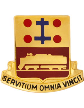 718th Transportation Battalion Unit Crest (Servitium Omnia Vincit)