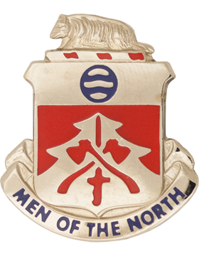 0724 Engineer Bn Unit Crest (Men Of The North)