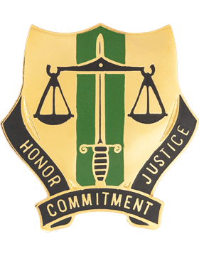 0724 Military Police Bn Unit Crest (Honor Commitment Justice)